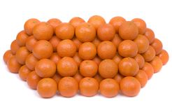 Tangerines on a white background. Royalty Free Stock Photography
