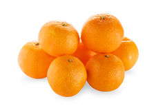 Tangerines on white background Royalty Free Stock Photography
