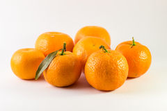 Tangerines. On white background Stock Photography