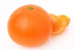 Tangerines. On a white background Stock Photos