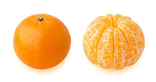 Tangerines  on white background Stock Images