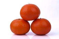 Tangerines on white background Royalty Free Stock Photo