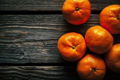 Tangerines on a wooden background. fresh fruit. healthy food Stock Image