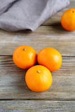 Tangerines on wooden boards Royalty Free Stock Image
