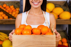Tangerines for you. Royalty Free Stock Images
