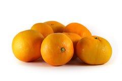 Tangerines zakończenie na białym tle Zdjęcia Royalty Free