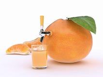 Tangerinesaft stock abbildung