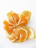 Tangerinescheiben der Tangerine Bild-mit viel von viel des Vitamins Stockbild