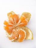 Tangerinescheiben der Tangerine Bild-mit viel von viel des Vitamins Stockfoto