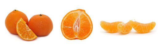 Tangerinesegment, Mandarine Lizenzfreie Stockbilder