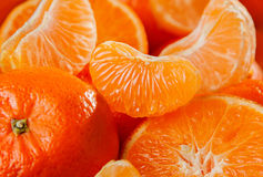Tangerinfruktbakgrund Arkivfoton