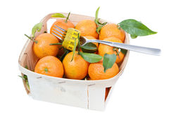 Tangerins in the box Stock Photography
