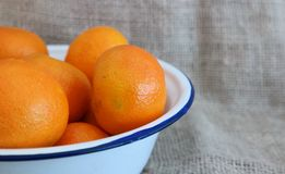 Tangerins. A number of tangerins in a bowl Royalty Free Stock Image
