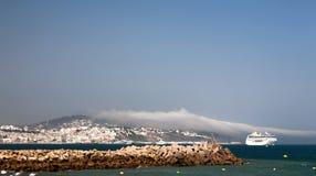 Tangier beach in  Morocco Stock Photo