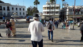Tangier city 9 April place. Center Royalty Free Stock Images