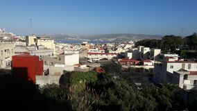 View of the sea. Tangier city beach lovely view Stock Image