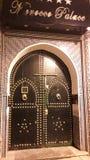 cold Moroccan door stock image