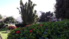 smallest garden tangier city stock images