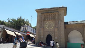Tangier city. Old place old clock Royalty Free Stock Photo