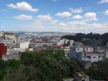 Tangier city. Panoramic view  of tangier bay and medina Stock Photos