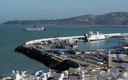 Tangier Harbor Royalty Free Stock Images