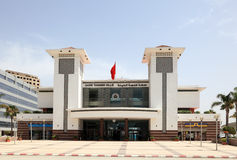 Tangier main train station, Morocco Stock Photo
