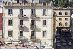Tangier, Marokko 27. Juli 2013 Alte Wohnung b lizenzfreie stockbilder