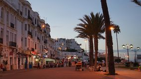 Tangier in Morocco. Port city in Morocco, Tangier, Africa stock photography