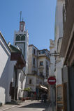 Tangier Tangiers, Tanger, Marocko, Afrika, Nordafrika, Maghreb kust, kanal av Gibraltar, medelhav, Atlantic Ocean Royaltyfri Bild