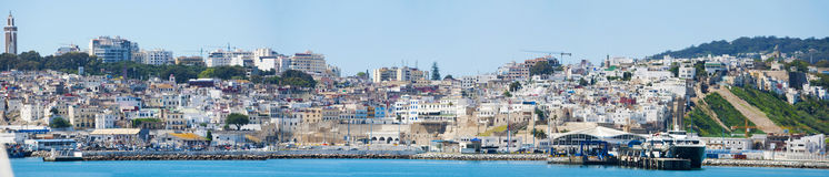 Tangier, Tangiers, Tanger, Morocco, Africa, North Africa, Maghreb coast, Strait of Gibraltar, Mediterranean Sea, Atlantic Ocean. Morocco, 22/04/2016: the port Royalty Free Stock Photography