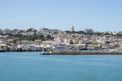 Tangier, Tangiers, Tanger, Morocco, Africa, North Africa, Maghreb coast, Strait of Gibraltar, Mediterranean Sea, Atlantic Ocean. Morocco, 22/04/2016: the port Stock Images