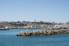Tangier, Tangiers, Tanger, Morocco, Africa, North Africa, Maghreb coast, Strait of Gibraltar, Mediterranean Sea, Atlantic Ocean. Morocco, 22/04/2016: the port Royalty Free Stock Images