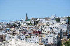 Tangier, Tangiers, Tanger, Morocco, Africa, North Africa, Maghreb coast, Strait of Gibraltar, Mediterranean Sea, Atlantic Ocean. Morocco, 22/04/2016: the roofs Stock Images
