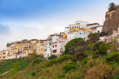 Tangier town, Morocco. Old houses in Medina Stock Images