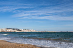 Tangier town and port, landscape. Morocco, Africa Royalty Free Stock Photos