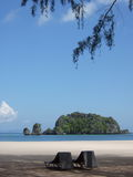 tangjung rhu релаксации пляжа Стоковое фото RF