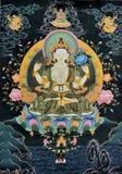 Tangka, het traditionele art. van Tibet Stock Afbeelding