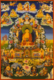 tangka show,buddha Shakyamuni Royalty Free Stock Photo