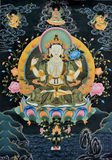 Tangka, Tibet traditional art. Tibet culture, traditional artwork, named Tangka, with Buddha and religion symbol on it Stock Image