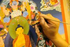 Tangka tibetano da pintura Fotografia de Stock Royalty Free