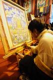 Tangka tibetano della pittura Fotografie Stock Libere da Diritti