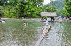 Tangkahan in Northern Sumatra, Indonesia Stock Images