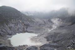 Tangkuban Parahu火山口 库存照片