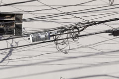 Tangle of cables Stock Image