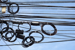 Tangle of cables and wires Royalty Free Stock Images