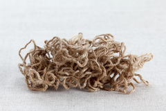 Tangle of coarse jute rope Stock Image