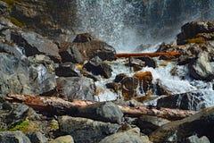 Tangle Creek waterfalls in Jasper National Park, Alberta, Canada. Waterfalls Tangle Creek in Jasper National Park, Alberta, Canada Royalty Free Stock Photos
