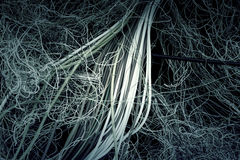 Tangle of electrical cables Royalty Free Stock Image