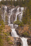 Tangle Falls. Majestic looking Tangle Falls in Jasper National Park, Alberta, Canada Stock Photo
