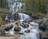 Tangle Falls middle step stock photography